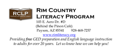 Rim Country Literacy Ad